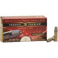 Federal Premium Hunter Match Rimfire Ammunition, .22 LR, 40-gr., HP
