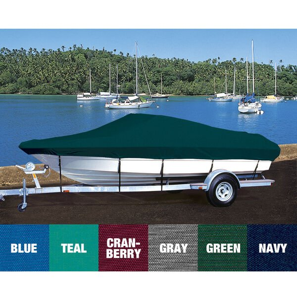 Custom Fit Hot Shot Coated Polyester Boat Cover For EBBTIDE 182 CAMPNE BOW RIDER