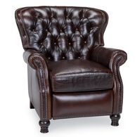 Cambridge Leather Recliner, Shalimar Cocoa