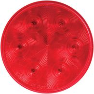 "LED 4"" Round Stop/Turn/Tail Light with Grommet and Plug; Red, Sealed; 7 Diodes"