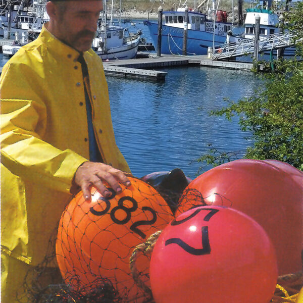 """Commercial Fishing Net Buoy, Rocket Red (21"""" x 27"""")"""