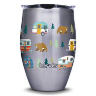 Tervis 12-oz. Stainless Steel Wine Tumbler, Retro Camper with Bears