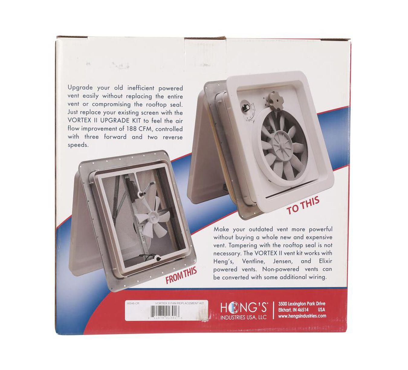 Heng/'s Industries 90046-CR Vortex II Multi-Speed Fan Kit