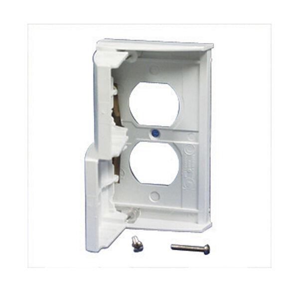 Duplex Receptacle Cover - White
