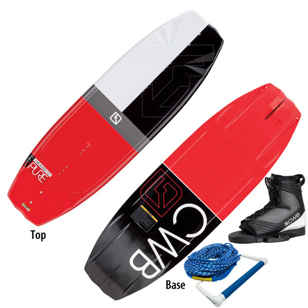 CWB Pure Wakeboard With Optima Bindings And Rope