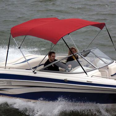 Shademate Sunbrella Stainless 3-Bow Bimini Top 6'L x 54''H 73''-78'' Wide