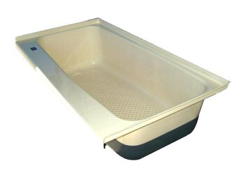 RV Bath TUB Left Hand Drain TU600LH - Colonial White