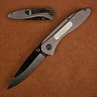 Stone River Ceramic Folding Knife with Titanium Coated Aluminum Handles And Carbon Fiber Inlay