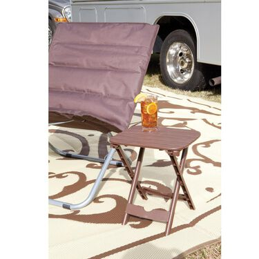 Quik-Fold Tag Along Table, Brown