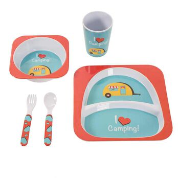 Camping Meal Set, Red I Love Camping Set
