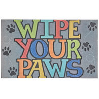 "Wipe Your Paws Door Mat, 18"" x 30"""