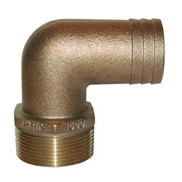 "Groco 90° Standard Flow Elbow Bronze Fitting – 1-1/4"" NPT x 1-1/4"" I.D."