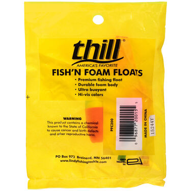 Thill Fish'N Foam Cigar Float, 3 pk.