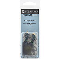 Superfly Streamer Bead-Head Crystal Bugger Fly, 2-Pack