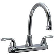 Kitchen 2-Handle Faucet, Chrome Finish