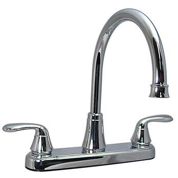 Kitchen 2-Handle Faucet, Chrome Finish