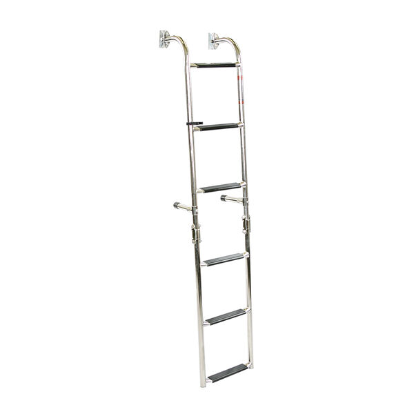 Overton's Transom Mounted 6 Step Stainless Steel Folding Ladder