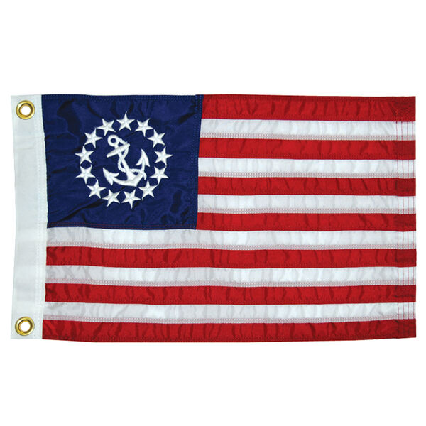 """Sewn US Yacht Ensign, 30"""" x 48"""""""