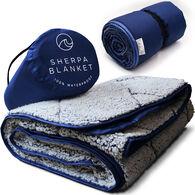 Oceas Waterproof Sherpa Blanket, Blue