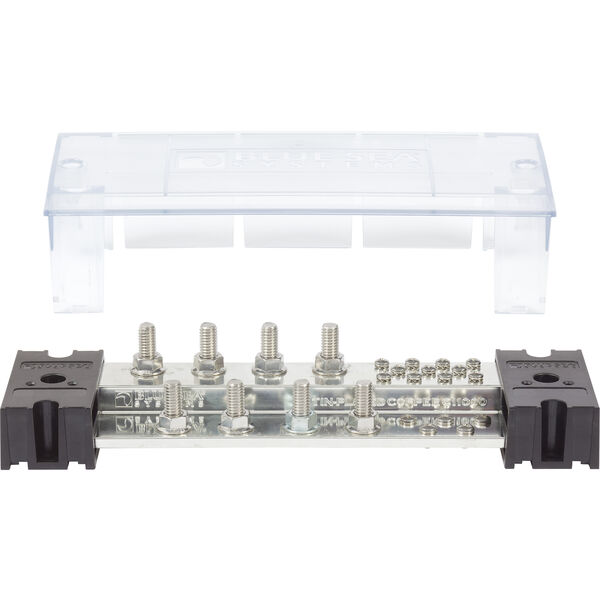 "Blue Sea Systems PowerBar 1000A Common Busbar, 8 x 3/8"" Terminal Studs"