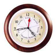 DayClocks™ Combination Series Wall Clock, Walnut