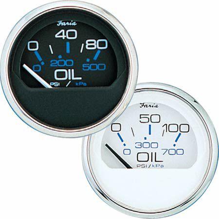 Faria Chesapeake SS Instruments Oil Pressure Gauge 0-80 psi