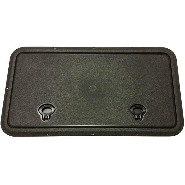 "DPI Marine DPF Black Flush Series Hatch Door, 13"" x 22-3/4"" O.D. frame"