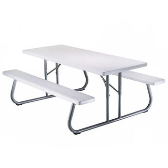 Folding Picnic Table - 6 foot, Putty