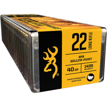 Browning High Velocity Performance Rimfire Ammo, .22 LR, 40-gr., LHP
