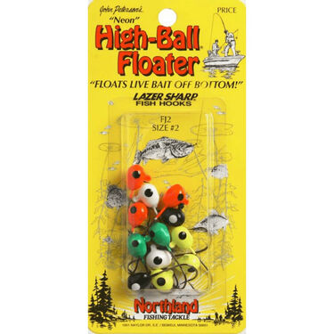 "Northland ""Neon Tone"" High-Ball Floater Jig, FJT1, 4-pk."