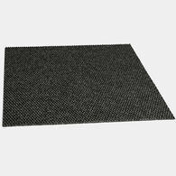 "Foss 18"" x 18"" Self-Adhesive Carpet Tiles, Hobnail Black Ice, 10-Pack"