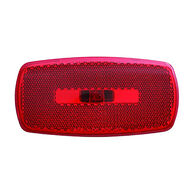 Rectangular Reflector/Clearance/Marker Light - twist-in socket; Red