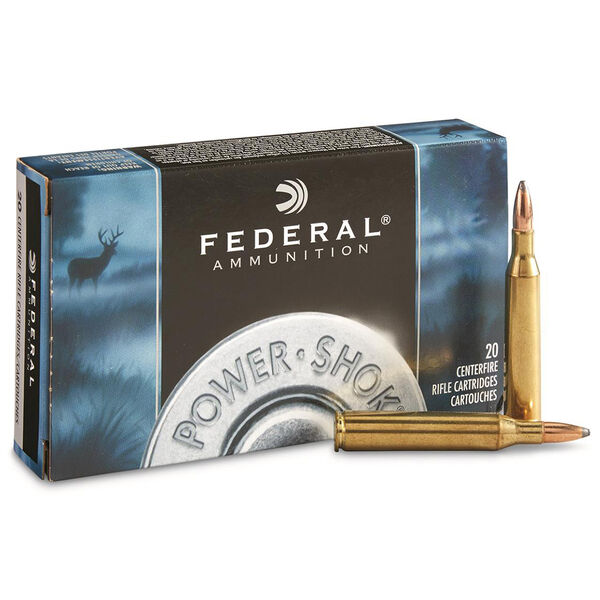 Federal Power-Shok Rifle Ammo, .243 Win, 100-gr., SP