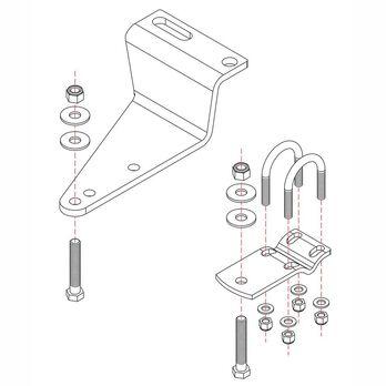 Roadmaster Reflex Steering Stabilizer Mounting Bracket, RBK12