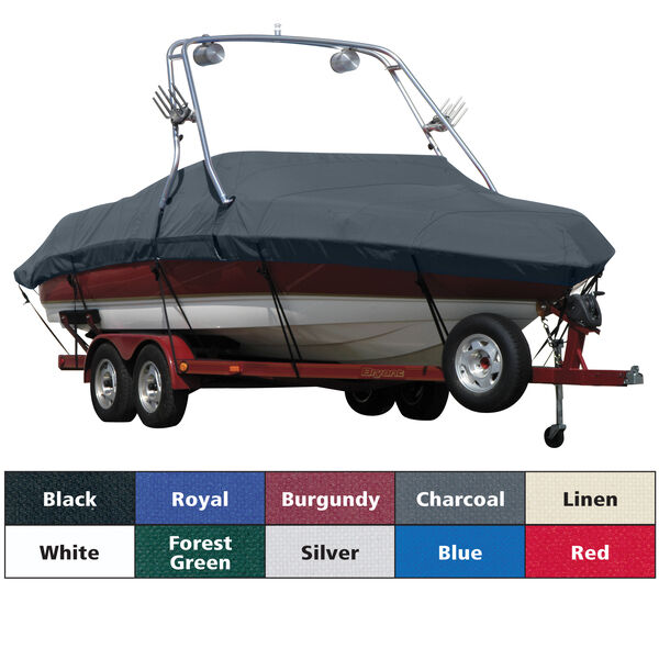 Sharkskin Boat Cover For Malibu 20 Response Lx W/Swoop Tower Covers Platform