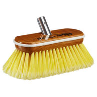 Star brite Premium Soft-Wash Brush (Yellow) - Synthetic Wood Block with Bumper