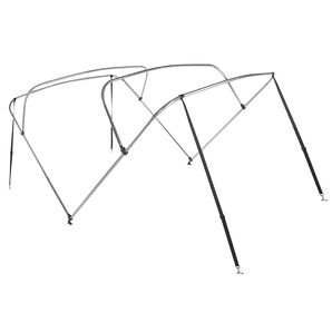 "Shademate Bimini Top 4-Bow Aluminum Frame Only, 8'L x 42""H, 67""-72"" Wide"