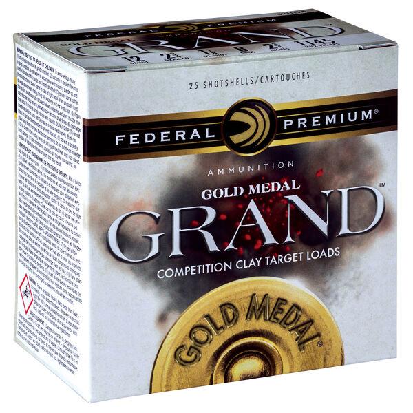 "Federal Premium Gold Medal Grand Shotgun Ammunition, 12-ga., 2-3/4"", 1-oz., 8"
