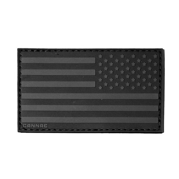 Cannae Pro Gear American Flag Right Arm Patch (Black)