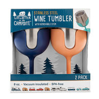 Camco Life is Better at the Campsite Wine Tumbler Set, 8 oz.