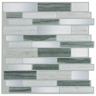 """Peel-and-Stick Mosaic Wall Tile, 10"""" x 10"""", Gray Mist"""