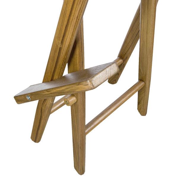 Whitecap Teak Captain's Chair w/Natural Seat Covers