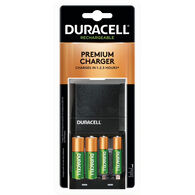 Duracell Premium Ion Speed 4000 NiMH Battery Charger with 2 AA and 2 AAA Rechargeable Batteries