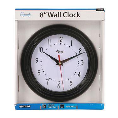 """Black Wall Clock, 8"""""""