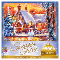 MasterPieces Holiday Snowman Cottage 500-Piece Glitter Puzzle