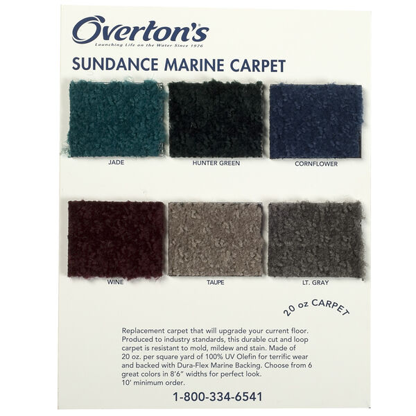 Overton's Sundance 20-oz. Carpet Sample Swatch Card