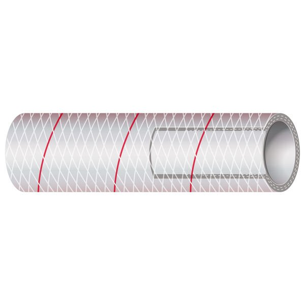 """Shields 1-1/4"""" Polyester-Reinforced Red-Tracer Tubing, 50'L"""