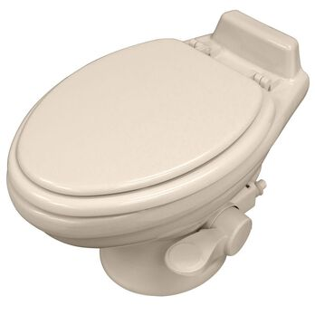 Dometic Low Profile 320 Series Gravity Discharge Toilet - Bone