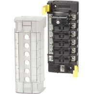 Blue Sea Systems ST CLB Circuit Breaker Block, 6 Position with Negative Bus