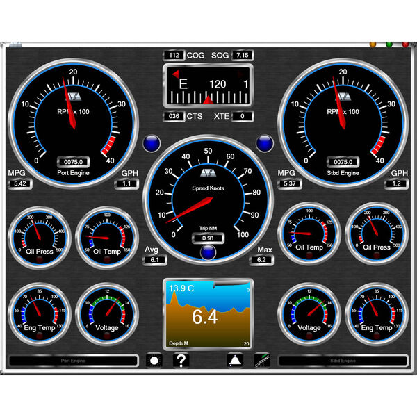 Fugawi Avia Motor Pro Onboard Instrument Software
